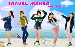 4minute's Travel Maker Episode 2 Cover