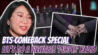 BTS Comeback Special: Let's Do a Viewable 'Purple' Radio Episode 1 Cover